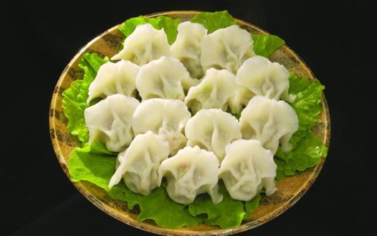 包水饺背景素材